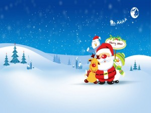 grappige kerstman kerstkaart