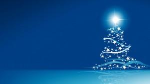 kerstboom blauwe sterren