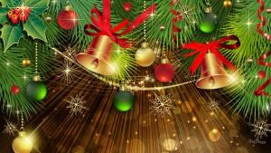 vector kerstboom en kerstballen