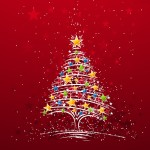 wallpaper kerstmis rood 2017